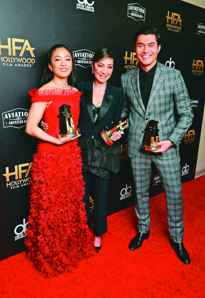 吳恬敏(左起)、楊紫瓊、亨利高汀都因「瘋狂亞洲富豪」美國熱賣,氣勢更上一層樓。(路透資料照片)