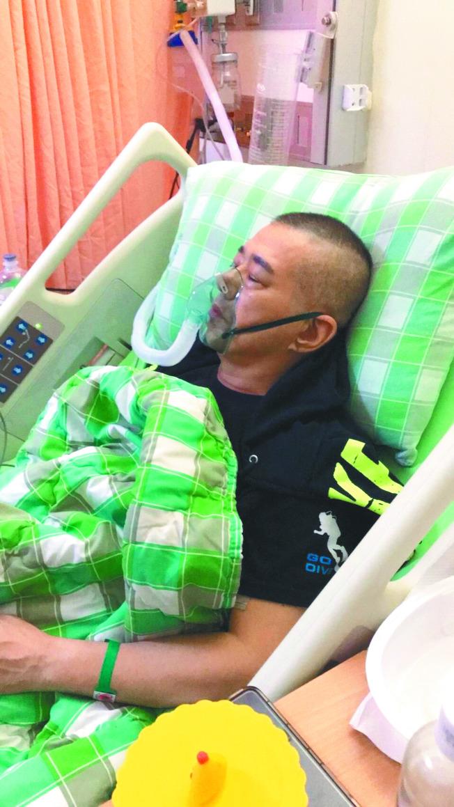 安迪正在加護病房與死神拔河。(圖:阿娥提供)