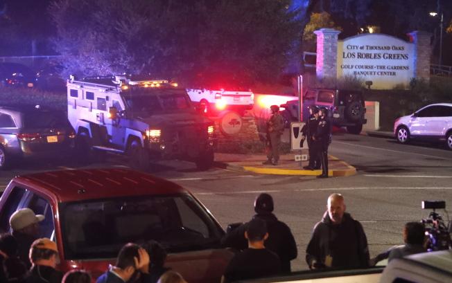美國加州洛杉磯郊區的千橡鎮7日晚間爆發槍擊案。歐新社