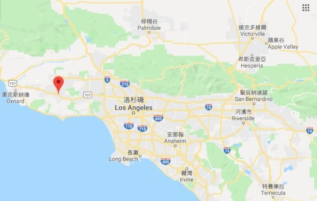 千橡鎮位於加州洛杉磯郊區。圖╱取自Google Map