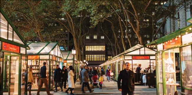 冬季来临时纽约的节日气氛也渐渐变浓,街头张灯结彩。(取自Urbanspace脸书)