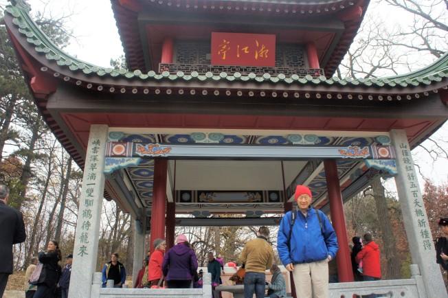 明州建築師盧偉明是「湘江亭」所在花園興建案的顧問。(記者陳曼玲/攝影)