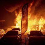 加州野火迅速延燒奪9命 35人下落不明