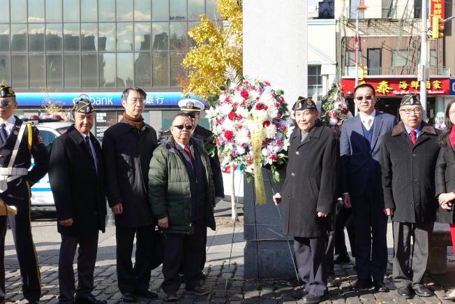 紐約華裔美國退伍軍人會遊行和紀念儀式(記者金春香/攝影)