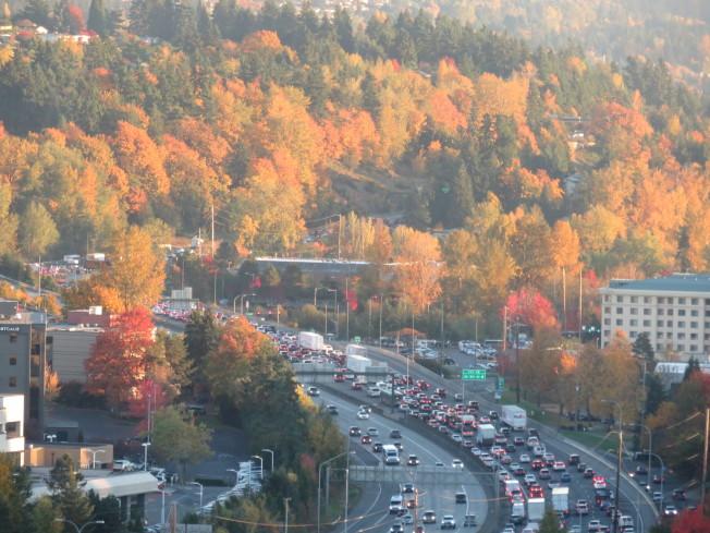 西雅圖在美國「最難開車」的城市排行榜中,名列第5名。  (記者王又春/攝影)
