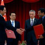 李克強訪新加坡 簽自貿協定升級議定書