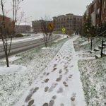 初雪降 馬州蒙郡公校停課