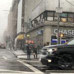 〈圖輯〉紐約首場雪來臨 市府發出行警報