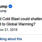 川普推文質疑暖化 推友圍剿科普