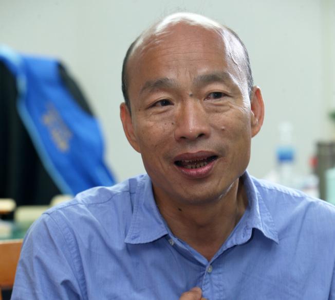 高雄市長當選人韓國瑜勝選後表示,不會換位子換腦袋 。 (記者劉學聖╱攝影)