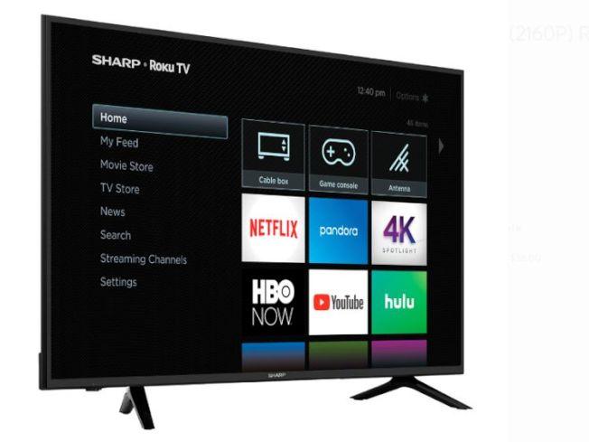 沃爾瑪銷售金額最高的是 Sharp Roku LED電視。(沃爾瑪網站)