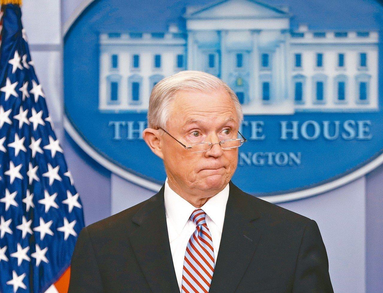 美國司法部長塞辛斯被辭職。 (美聯社)