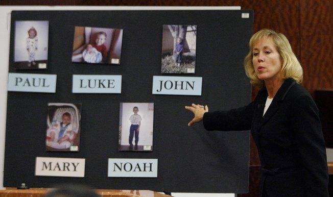 檢察官在庭上舉證五名孩童遭到殺害的細節。(Getty Images)