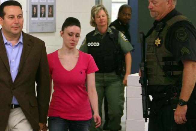 凱西.安東尼遭控殺人罪但被判無罪,得以離開監獄。(Getty Images)