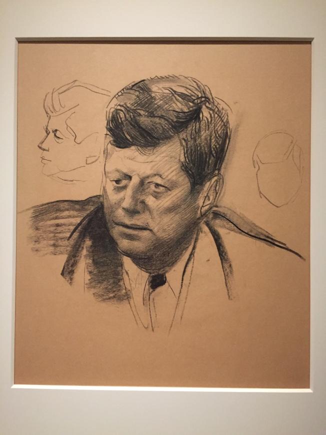 肖像館內受詛咒的甘迺迪總統像。