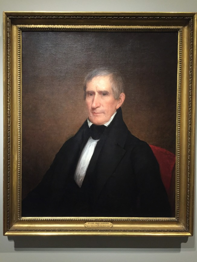 美國國家畫廊展出的威廉哈里森肖像。