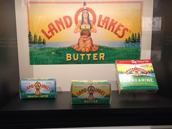 以印第安人型像的奶油產品。