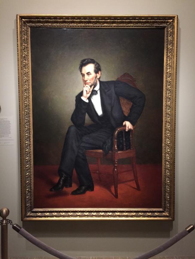 肖像館內受詛咒的林肯總統像。