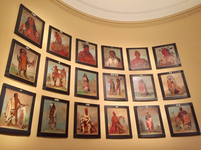 國家肖像畫廊展出的印第安酋長。
