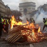 法國示威更暴力 「黃背心」燒到比利時