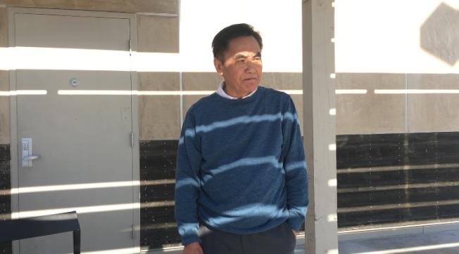 天普市居民邱先生。(記者林佩錦/攝影)