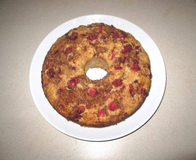 料理功夫|肉桂糖蔓越莓蛋糕