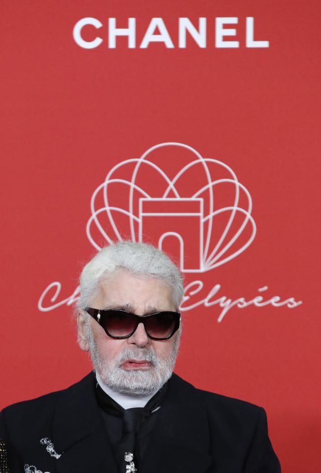 香奈兒資深設計師卡爾拉格斐(Karl Lagerfeld)。美聯社