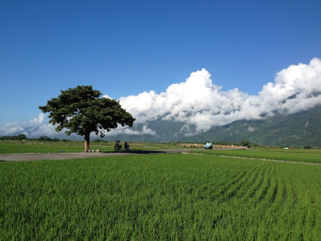 台東的藍天白雲吸引許多觀光客與移民人口。