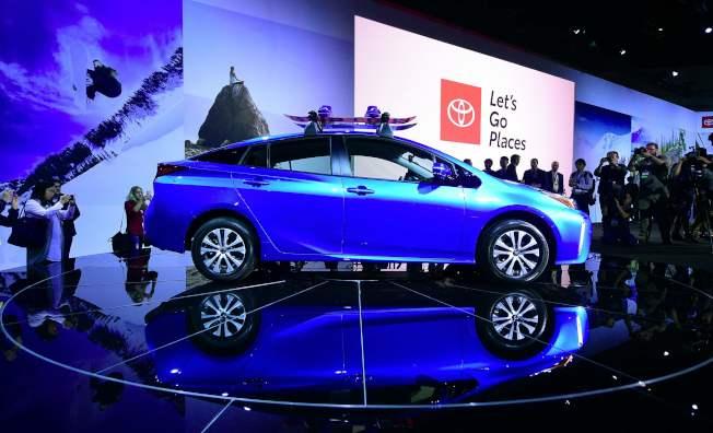 豐田傳統強勁的普銳斯(Prius)混合動力車銷售不佳。(Getty Images)