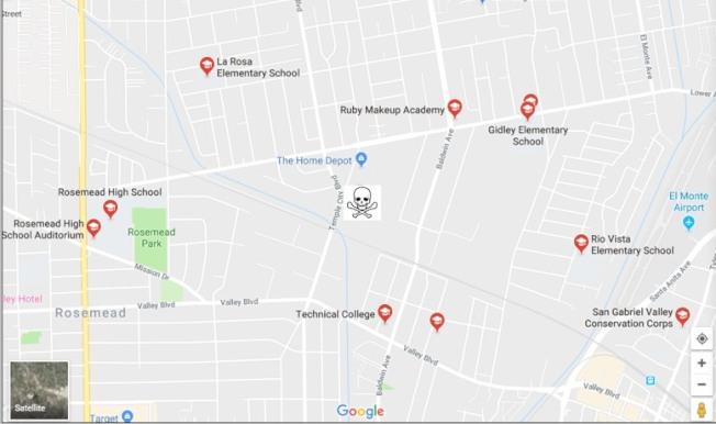12月8日上午11時,華裔將於大麻基地計畫選址4400 Temple City Blvd, El Monte 91731集合。(抵制大麻保家衛國群提供)