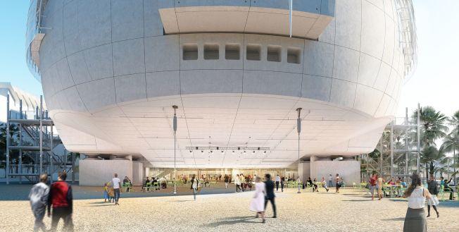 美國影藝學院博物館公布設計概念圖。(影藝學院提供)