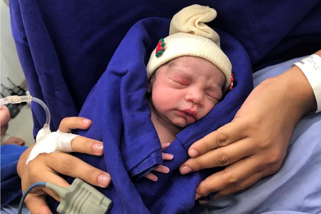 巴西一名婦女2016年9月接受已故捐贈者的移植子宮,並在去年12月順利產下一女。(美聯社)