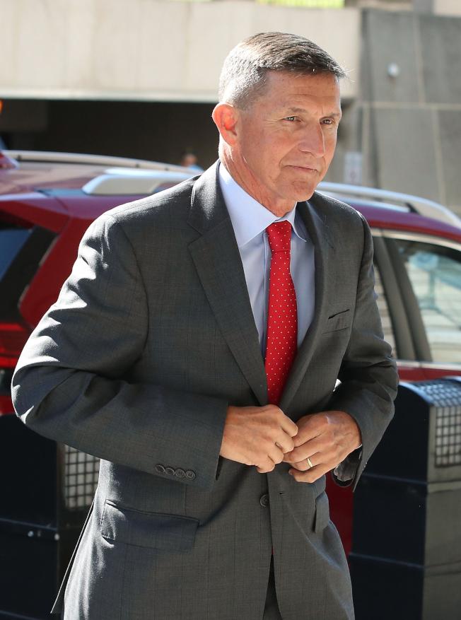 因涉及通俄案遭調查的前國安顧問佛林扮演的角色,很難從特別檢察官穆勒提出的量刑資料中看出。圖為佛林今年7月在華府出庭的檔案照片。(Getty Images)