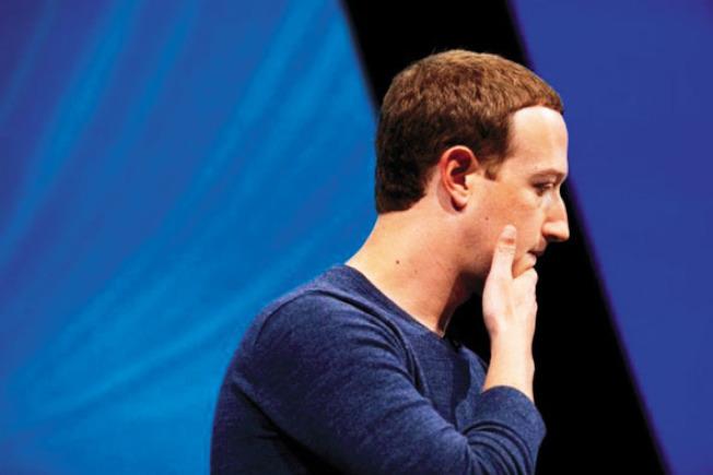 臉書今年醜聞不斷,導致職場排名從去年的第一跌至今年第七。(Getty Images)