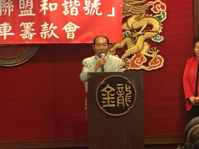 中華會館主席梁永泰。(記者林佩錦/攝影)