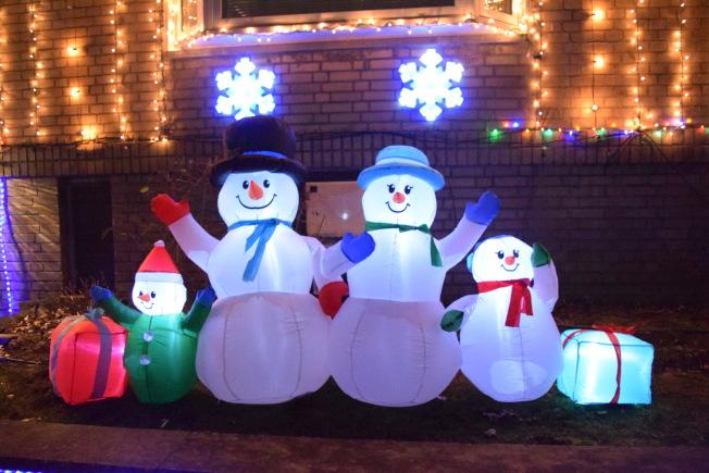 雪人是耶誕節不可或缺的卡通角色。(記者顏潔恩/攝影)