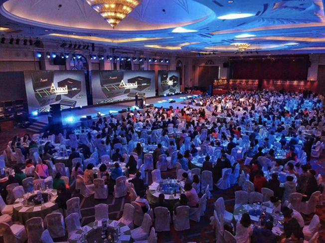 思蘭德公司在當地高級酒店舉辦醫療說明會。 (取材自澎湃新聞)