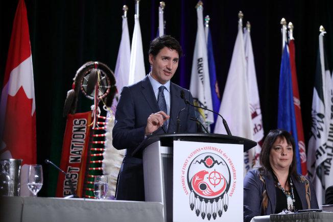 加拿大總理杜魯多說,美國曾事先告知要逮捕孟晚舟,但否認有政治介入。(路透)