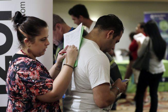 美國失業率仍維持在49年來最低點。美聯社