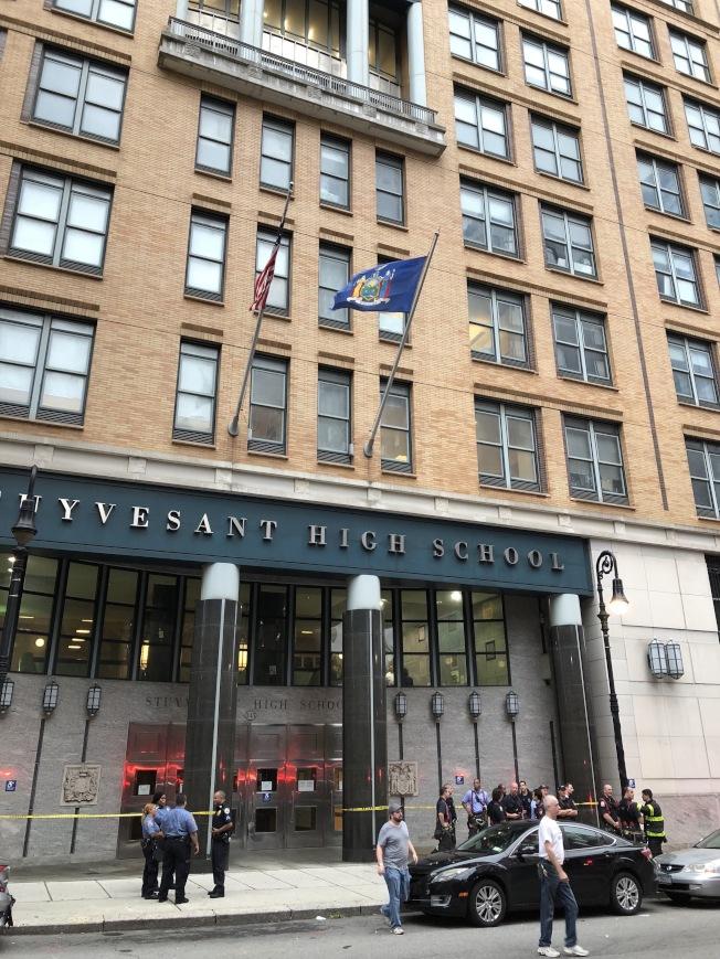 史岱文森高中是紐約特殊高中之一。(本報檔案照)