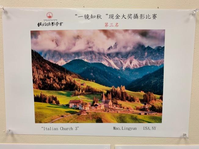 毛凌雲的「義大利教堂3」拍攝於義大利北部。(記者和釗宇/攝影)