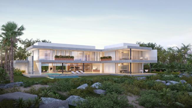 鮑慧珊夫婦要興建的高檔住宅,可眺望太平洋。圖為彩現圖。(鮑慧珊提供)