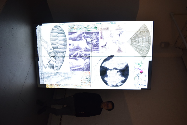 台灣藝術家許家維,帶來最新作品「黑與白—馬來貘」在布碌崙舉行影像展。(記者顏潔恩/攝影)