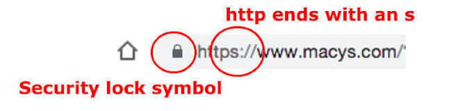 官員提醒,網址中的「https」是安全認證。(新澤西消費者事物辦公室)