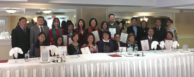 橙縣華僑文教服務中心舉行年末感恩餐會。(橙僑中心提供)