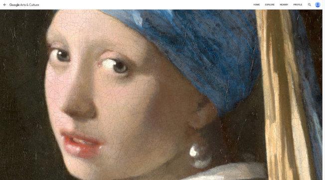 維梅爾畫作「戴珍珠耳環的少女」。(取材自莫瑞泰斯皇家美術館與Google藝術與文化部門)
