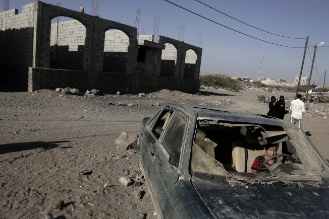 葉門歷經多年內戰,民不聊生,圖為摩卡區的慘況。(美聯社 )