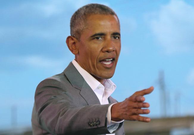 前總統歐巴馬15日譴責共和黨為廢除「歐記健保」,用盡手段,毫不罷休。(美聯社)