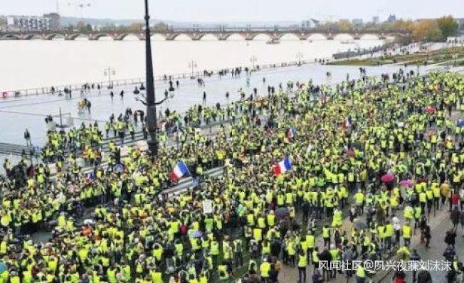 「黃背心」運動恐將進一步全面擴散到整個歐洲。取自觀察者網