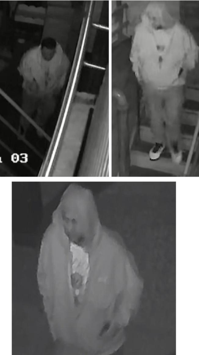 一名白人男子涉嫌用棍棒打傷黃姓華男頭部,並搶500元現金。(市警提供)